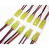 5 Paar MINI Tamiya Stecker/Buchse mit Kabel 190mm