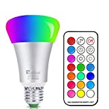 Netboat Bombillas Colores Led E27 10W, RGBW LED Bombilla Color Cambiantes Lámpara con Mando a Distancia, Múltiples Colores Regulable Cambio de Color iluminación Decoración para Casa Bar Fiesta KTV