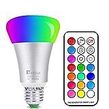 NetBoat RGBW LED Lampen, 10W E27 LED Farbige Licht Leuchtmit RGB LED Leuchtmittel Dimmbar mit Fernbedienung, Farbwechsel Lampen LED Birnenmit 12 Farben+ Kaltweißem