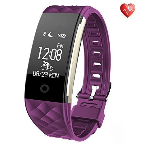 Semaco Fitness Tracker Heart Rate Monitor Wireless Smart Bracelet Waterproof Activity Tracker Pedometer Wristband Sleep Monitor Smartwatch For Android And IOS Smartphones