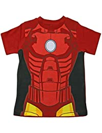 Iron Man Childrens T-Shirt Official Marvel Avengers Kids Costume Clothing (2-3 Years, Iron Man)