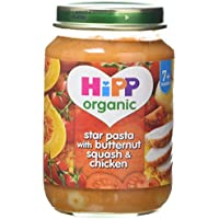 HiPP Organic Star Pasta with Butternut Squash and Chicken 190 g (Pack of 6) preiswert