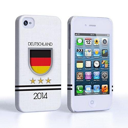 Caseflex Coque iPhone 4 / 4S Deutschland Coupe du Monde Dur Housse