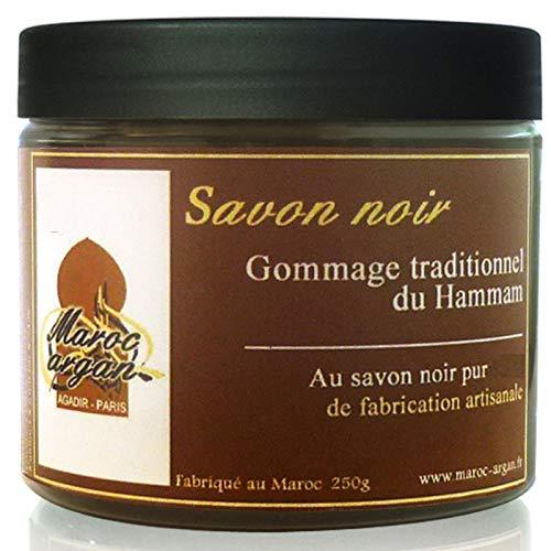 Peeling traditionelle schwarze Seife 250g - 100% natürliches aus Marokko