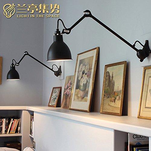 Larsure Vintage Industrial Style Wandleuchte Wandleuchte Lampe Erinnert an die Wand Lampen Retro industrielle Wandleuchten kann gedreht werden, mit E27-Sockel für Haus, Bar, Restaurants, Café, Club Dekoration zu kollabieren, Galvanik). Farbe