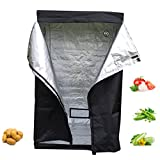 OUTAD Grow Zelt, 120x120x200cm Gewächshaus Zuchtzelt Growzelt Grow Tent Growschrank 600D for Indoor Plant Growing