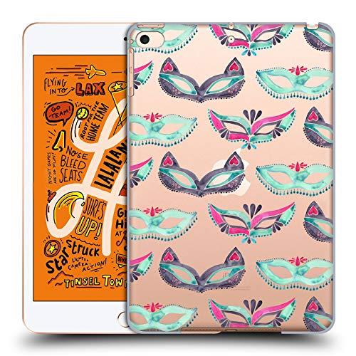 Head Case Designs Offizielle Cat Coquillette Minz Rosa Maske Maskerade Muster 4 Harte Rueckseiten Huelle kompatibel mit iPad Mini (2019)
