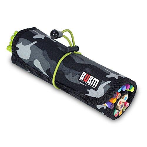 KKmoon BUBM UDJ Kabelorganisator Tasche Lagerung Koffer Rollendes Design Wasserdicht Für USB Kopfhörer Kabel Werkzeug Stift Zubehör (Rollende Computer Tasche)