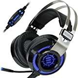 Cascos Gaming  SCORIA por ENHANCE  Headset USB   Auriculares Gaming Surround Sound 7.1 Con Vibración y Microfono Extraible