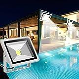 HimanJie 20W LED Lampe SMD Scheinwerfer Fluter Licht Kaltweiß in silber grau Flutlicht Innen-Außenstrahler Strahler IP65 wasserdicht Flutbeleuchtung