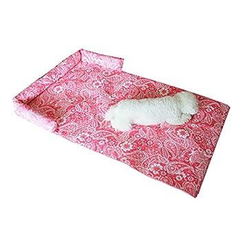 Nibesser Coussin Lit Couchage Protège Canapé pour Chien Chat Animaux de Compagnie Coussins Protecteur de Chaise (XL, Rose)