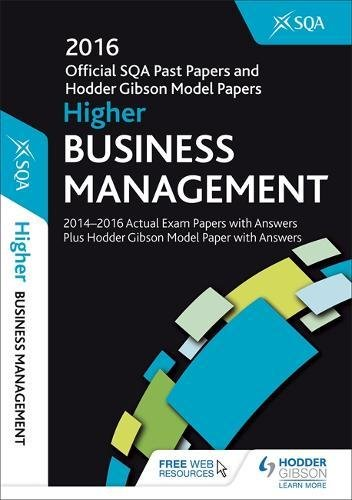 sqa past papers higher business management 2013