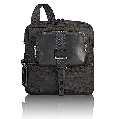 Tumi Leder Tasche (Tumi Alpha Bravo - Arnold Zip Flap Umhängetasche, 32 cm, 4.33 L, Black)