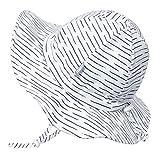 Jan & Jul UV-Schutz-Sonnenhut aus Baumwolle fürs Kleinkind 50 UPF, Verstellbar, mit Halteband (L: 2-5 Jahre, Weiße Wellen)