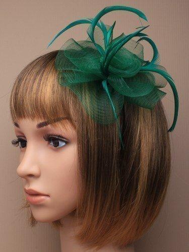 Justjackiesbargains Haarschmuck Fascinator auf schmalem Haarreif, für Hochzeiten, Bälle, Pferderennen
