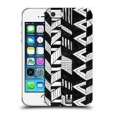 Head Case Designs Vertikaler Mix Schwarz-Weiss Muster Doodle Soft Gel Hülle für iPhone 5 iPhone 5s iPhone SE