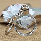 Mujeres Fairy Tail Popular Crystal Anime LED Light Charm Llavero Llavero Cosplay Regalos para Amigos Accesorio