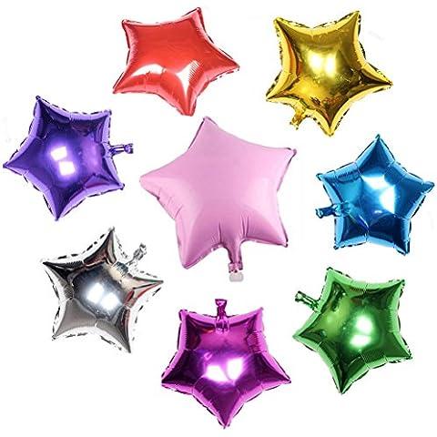 LEORX Globos de helio de la hoja - 8pcs (Color al azar)