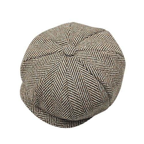 Kopf Bommel Kostüm (Liying Neu Unisex Klassicher Schirmmütze Schiebermütze Tweed Kappe Flat Cap Golfermütze Sportcap Winter Mütze)