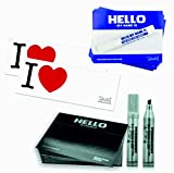 Montana Aufkleber Papier im Set - Hello My Name is .Selber Machen - I Love 300 Sticker / 2 Stifte