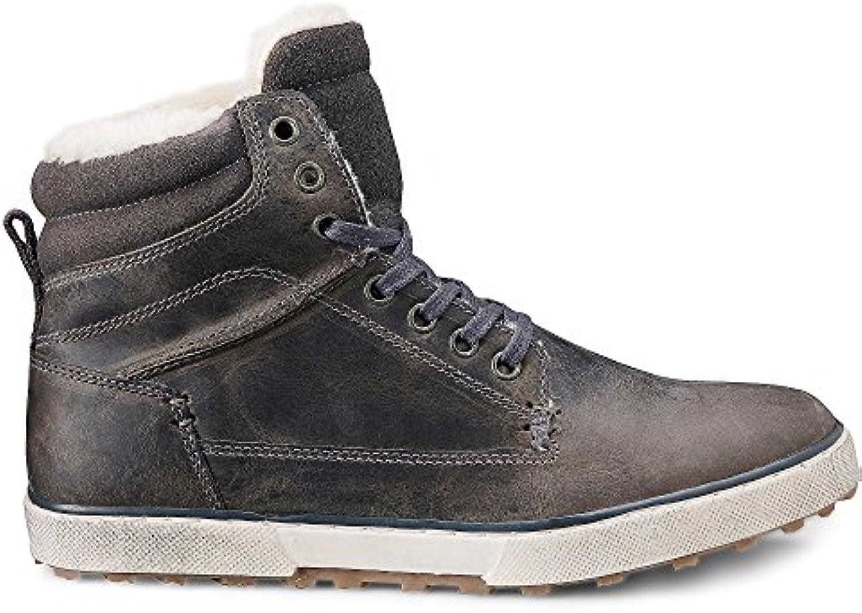 Cox Herren Winter Sneaker   Winterstiefel   Boots   Glattleder   Hoher Stiefel   Rutschhemmende Profilsohle