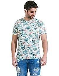 Threadbare - T-shirt - À Fleurs - Col Ras Du Cou - Homme