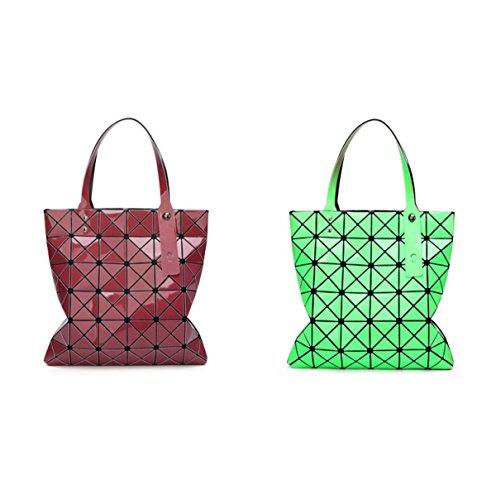 Geometrische Ling Gitter Faltenden Schultertaschen Berühren Sie Die Farbe ändern Farbe Handtaschen E