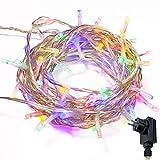 Lichterkette WISD 400 LED 43M Farbe Innen und Außen LED Beleuchtung mit EU Stecker auf Transparent Kabel für Weihnachten Garten Festival Party Hochzeit Dekoration Weihnachtsbaum Deko