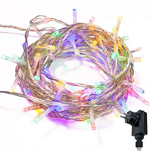 Lichterkette WISD 800 LED 83M Farbe Innen und Außen LED Beleuchtung mit EU Stecker auf Transparent Kabel für Weihnachten Garten Festival Party Hochzeit Dekoration Weihnachtsbaum Deko