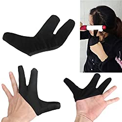 Generic Heat Resistant Finger Glove For Hair Straightener Straightening Curling Hairdressing One Piece