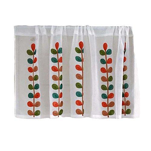 Kurze Küchendecke Vorhang Kleine Fenster Halbe Cafe Vorhang - Durchsichtige Blätter