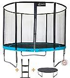 Kangui - Trampoline de jardin 305 cm + filet de sécurité + échelle + bâche de protection PUNCHI ATOLL