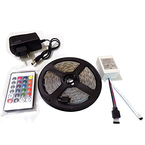 Led light strip kit rgb remote control led strip light color home shop home and kitchen indoor lighting standing lights aloadofball Image collections