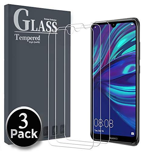 Ferilinso Panzerglas Schutzfolie für Huawei Y7 Prime 2019/ Huawei Y7 Pro 2019/ Huawei Y7 2019, [3 Pack] Gehärtetes Glas Displayschutzfolie mit Lebenszeit Ersatzgarantie (Transparent)