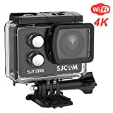 "SJCAM SJ7 Star Real 4K Action Camera- Ambarella Chipset 4K@30FPS/ Sony Sensor 12MP/ 2""TouchScreen Wifi Underwater Camera/Remote Control/Microphone Supported/Gyro Stabilization+Waterproof Case- Black"