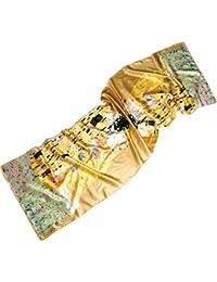Prettystern - LUXUS 100% hecho a mano pañuelo de Satin seda 170cm - Gustav Klimt - diferentes diseños