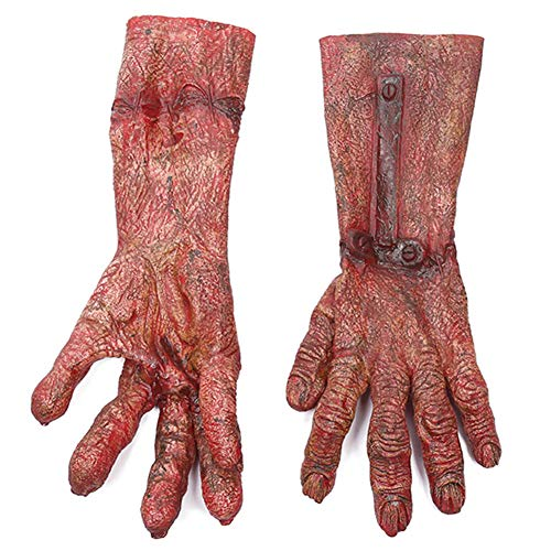 Ohyoulive Devil Silicone Gloves Halloween Makeup Party Tricks Terrorist Props Makeup Party Props Tricks Horror Zombie Blood Gloves Cosplay Devil Silicone Gloves 2019