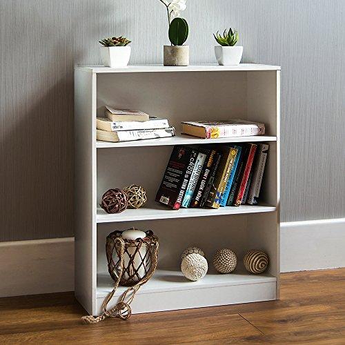 Wohnzimmer Büro Schrank (Home Discount Cambridge, 3Ebenen, Bücherregal, Regal, Holz, Weiß, Schrank, Büro, Wohnzimmer)