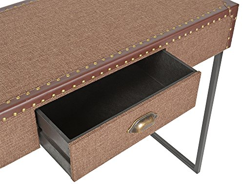 Ts ideen buffet secrétaire console style vintage valise marron