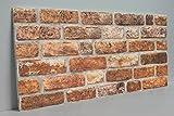 Steinoptik Wandverkleidung für Wohnzimmer, Küche, Terrasse oder Schlafzimmer in Klinkeroptik Look. | 100cm x 50cm (ST 141)