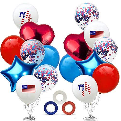 Happt Unabhängigkeitstag Party Dekoration Stern Druck Party Ballons Partei Liefert Patriotische Dekorationen (Patriotische Partei Liefert)