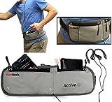 Navitech Smartphone Wasser Wiederständiges Neoprane Soprt / Jogging / Lauf Fitnesgürtel / Bauchtasche in Grün für das Sony Xperia Z4