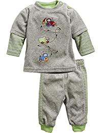 Schnizler 2-Piece Nicki Long Sleeve Shirt and Bottoms Tractor, Truck, Digger, Chándal para Bebés
