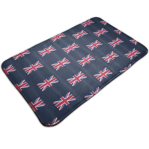 Union Jack Pistolen (Vidmkeo UK Flag Union Jack Kitchen Carpet Rug Door Mat Rug for Bathroom Outdoor Porch Laundry Living 19.5