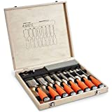 Best Scalpelli legno - VonHaus Set professionale da 10 scalpelli per intaglio Review