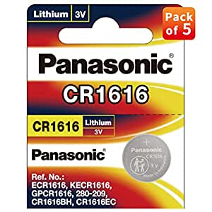Panasonic CR 1616-5BE Lithium Coin Battery - Pack of 5