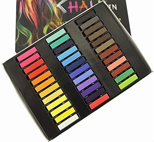 Abenily Kleine und praktische Lebensgegenstände, 36 Farben, DIY Haarkreide Haarfärbung Set multifunktional, quadratische Kreide