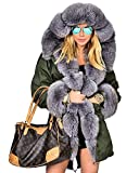 Roiii Lady Winter Women Thicken Warm Coat Hood Parka Long Jacket Outwear Size 8-20