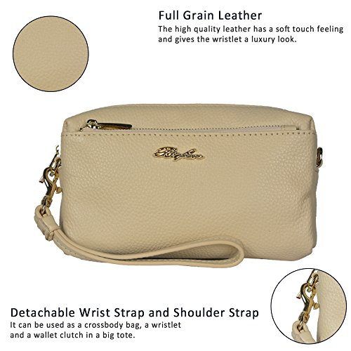 Belfen, Borsa a tracolla donna dark grey bag Light khaki bag
