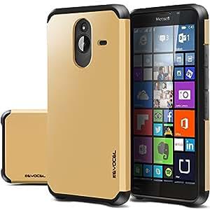 Nokia Lumia 640 XL Case Evocel Dual Layer Armor Protector Case For Nokia Lumia 640 XL- Retail Packaging Gold Medal